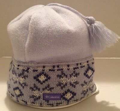 Girls Columbia One Size Fits All Fleece/knit Pale Periwinkle/Blues Winter Hat
