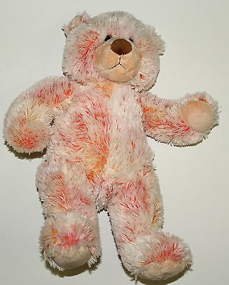 Build-A-Bear Workshop Peach Orange Teddy Bear Plush Stuffed Animal 16""