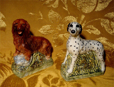 Garnier Dachshund & Dalmatian Dog Liqueur Decanters Containers Made In Italy