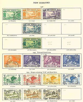KGVI New Hebrides fine used collection
