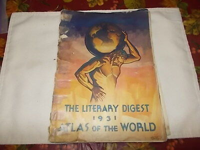 The Literary Digest Atlas of the World 1931.softcover. USA