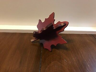 Longaberger Woodcrafts Maple Leaf Red