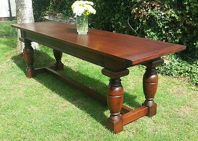 Antique 8ft refectory table walnut