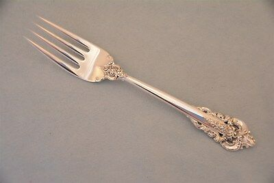 "Wallace Grande Baroque Sterling Silver 6-1/2"" Salad Fork No Monogram"