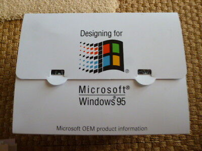 Collectable Microsoft Windows 95 OEM Product Information Box Press Rel Chicago