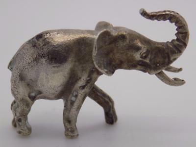 Vintage Solid Silver Italian Made Elephant Miniature, Figurine, Stamped*