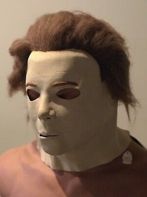 "NWT Vintage 1985 Don Post Studios ""The Mask"" Halloween Michael Myers Latex Mask"