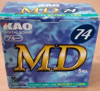 Kao MD 74 x 5, in box, new and unused