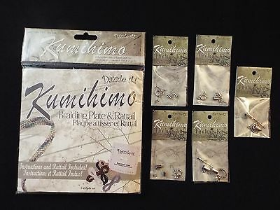 NEW-kumihimo-dazzle-it braiding/weaving square plate-disk & rattail & 5 findings