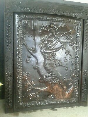 "Rare ""lady In A Tree"" Fireplace Surround & Summer Cover"