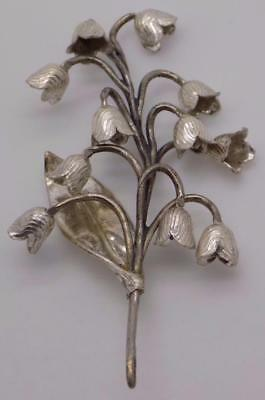 Vintage Solid Silver Italian Made Flowers Miniature, Figurine, Stamped