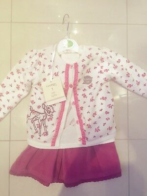 Baby Girl 12-18 Months Cute Outfit/ Top Cardigan Skirt &tights /