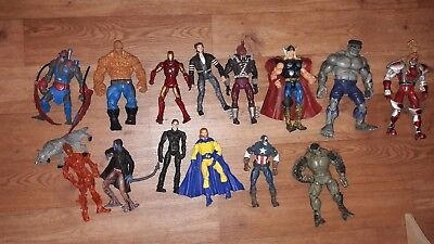 MARVEL UNIVERSE LEGENDS ACTION FIGURE BUNDLE iron man wolverine hulk Thor