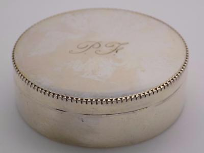 Vintage Solid Silver Italian Made Pill / Snuff Box, Stamped, Engraved