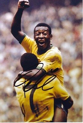 Brazil PELE original hand signed photo COA