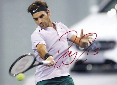 2017 SHANGHAI MASTERS Roger Federer original hand signed photo COA