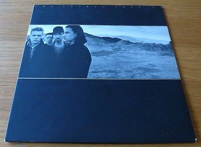 U2 The Joshua Tree Vinyl LP 1987 Includes Poster Lyric Sheet