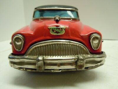 Vintage 1954 Japan Marusan Tin Friction Buick 2 Door HT . A+ . ORIGINAL.No Reser