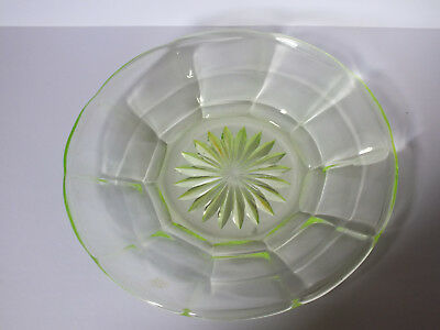 Trinket saucer, moulded green glass