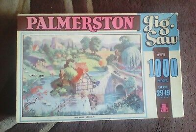 vintage Tower Press Palmerston over 1000 piece Jigsaw Puzzle THE MILL STREAM.