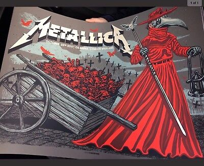 Metallica LONDON O2 Worldwired Tour Event Poster Print LIMITED EDITION NUMBERED