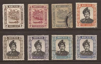 BRUNEI - Collection of 8 Early MM and Used Stamps - (JB901)