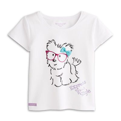 American Girl Coconut Cutie Tee for Girls Size XS (Age 6)