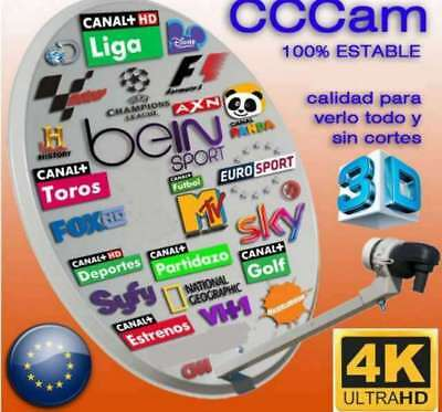 Cccam Cline 1 Año Servidor Privado Y Potente Test Latencia 38 Ms Alemania