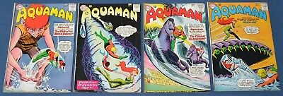 Aquaman #10,11,12,13~#11 1st Mera~Silver Age DC Lot~Justice League~VG/VG+