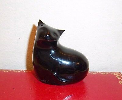 Baccarat Glass Black Cat