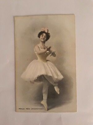 French ballet dancer - Mdlle Men (Mignonne) c1910 British card