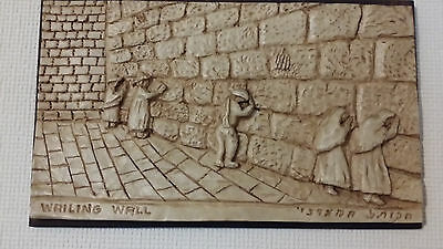 Jewish Hand made resin picture, Wailing Wall, Kotel.