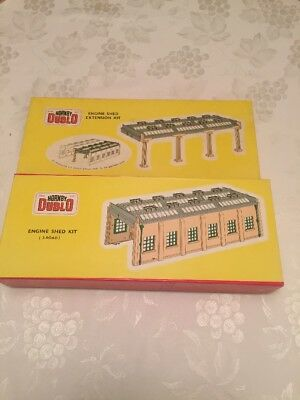 Hornby Dublo Engine Shed And Extension Kit