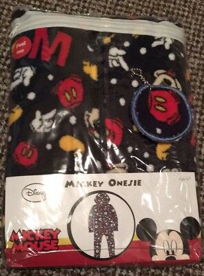 BNWT Disney boys Mickey Mouse all in one pjs with hood age 6-7