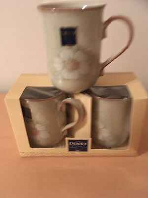 Denby Daybreak Mugs X 3, Perfect condition, boxed, unused