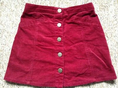 Gorgeous Girls Deep Red Skirt. Age8-9