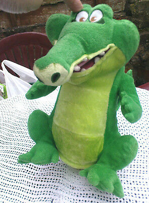 Official Disney Peter Pan Tick-Tock the Crocodile Soft Toy Swampy With Sound