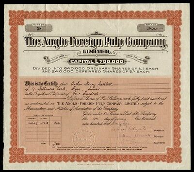 Anglo-Foreign Pulp Company, Limited (1929)