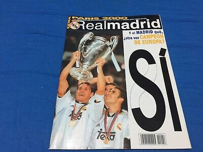 2001 Final Champions.Real Madrid,3-Valencia,0. programme, official magazine