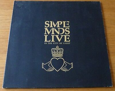 Simple Minds Live In The City Of Light Vinyl LP 1987