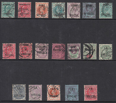 Gb Great Britain Qv/kevii  Officials Collection 19 Used Stamps