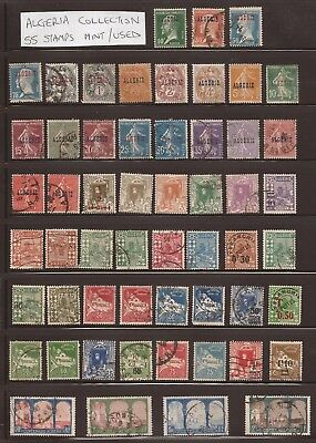 ALGERIA - Collection of 55 Early Stamps - MM and Used - (JB715)