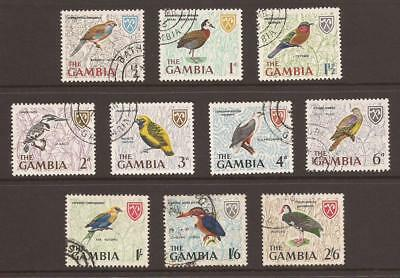 GAMBIA - 1966 - SG233/242 - Birds - 1st 10 Values of Set - Fine Used - (JB818)