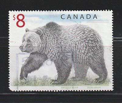 """Canada # 1694  $8   """"  Grizzly Bear  """" Used"""