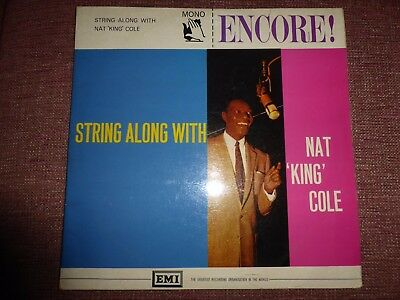 """Nat """"King"""" Cole* – String Along With Encore! – ENC 102 MONO"""