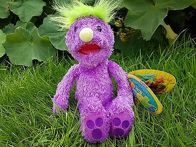 Hoobs plush soft toy Iver purple hoob Tomy 2001 SMALL