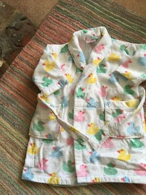 Cath Kidston Ducks Towelling Dressing Gown Age 3/4