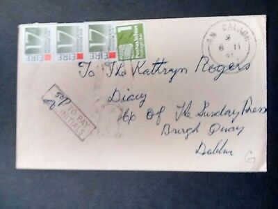 Ireland Stamps 1991 postage due cover