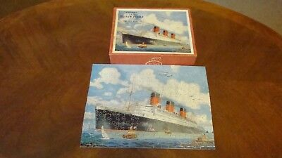 Vintage Victory Plywood Jigsaw 175 pieces Cunard Queen Mary Complete