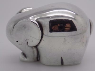 Vintage Sterling Silver 925 Italian Made Signed Elephant Figurine, Stamped